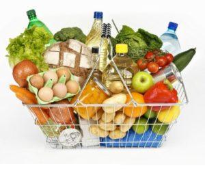 корзина с продукрами питания