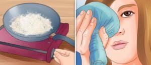прогревание глаза солью